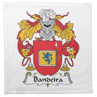 Escudo de la familia de Bandeira Servilletas Imprimidas