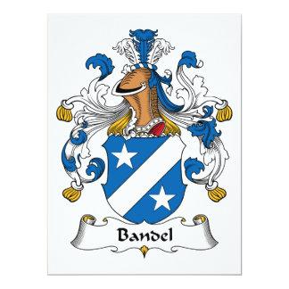 """Escudo de la familia de Bandel Invitación 6.5"""" X 8.75"""""""