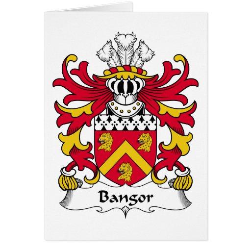 Escudo de la familia de Bangor Felicitacion