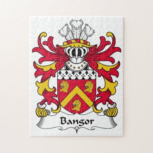 Escudo de la familia de Bangor Rompecabeza Con Fotos