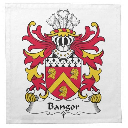 Escudo de la familia de Bangor Servilletas Imprimidas