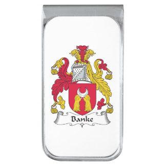 Escudo de la familia de Banke Clip Para Billetes Plateado