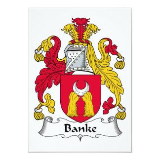 """Escudo de la familia de Banke Invitación 5"""" X 7"""""""