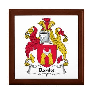 Escudo de la familia de Banke Joyero Cuadrado Grande