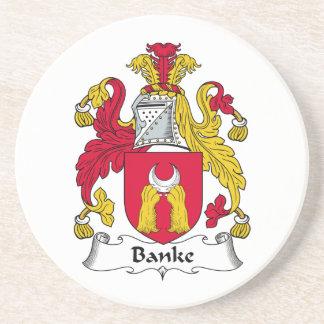Escudo de la familia de Banke Posavasos Para Bebidas