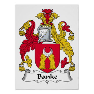 Escudo de la familia de Banke Póster