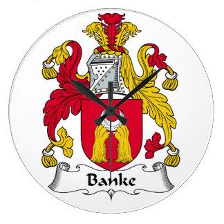 Escudo de la familia de Banke Reloj Redondo Grande