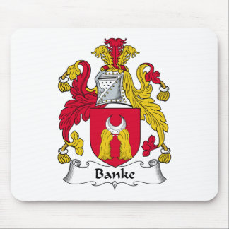 Escudo de la familia de Banke Tapetes De Ratones