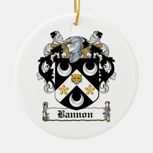 Escudo de la familia de Bannon Adorno Redondo De Cerámica