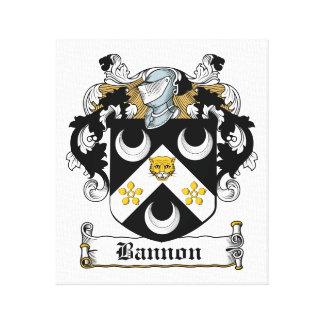 Escudo de la familia de Bannon Impresión En Lienzo