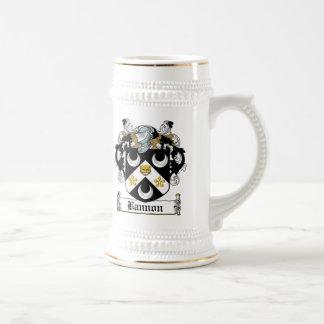 Escudo de la familia de Bannon Jarra De Cerveza