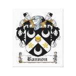 Escudo de la familia de Bannon Lona Envuelta Para Galerias
