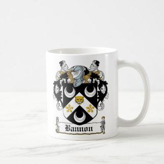 Escudo de la familia de Bannon Taza Básica Blanca