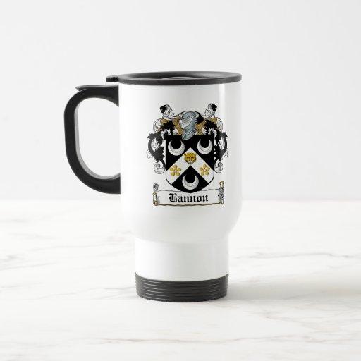 Escudo de la familia de Bannon Tazas De Café