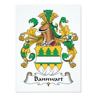 """Escudo de la familia de Bannwart Invitación 6.5"""" X 8.75"""""""