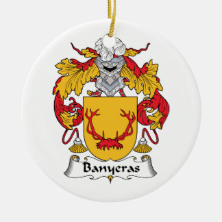 Escudo de la familia de Banyeras Adorno Navideño Redondo De Cerámica
