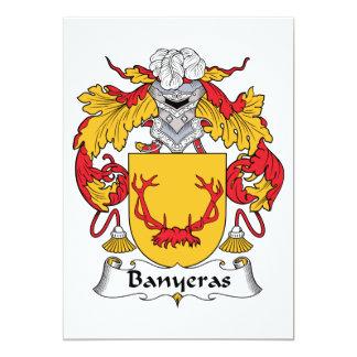 """Escudo de la familia de Banyeras Invitación 5"""" X 7"""""""