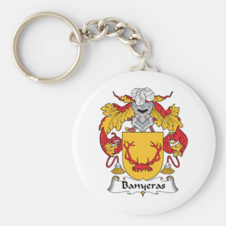 Escudo de la familia de Banyeras Llavero Redondo Tipo Pin