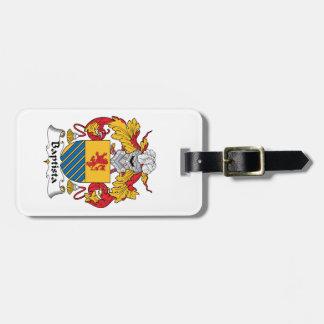 Escudo de la familia de Baptista Etiquetas Maleta