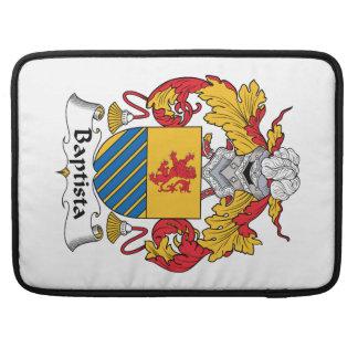 Escudo de la familia de Baptista Funda Para Macbooks