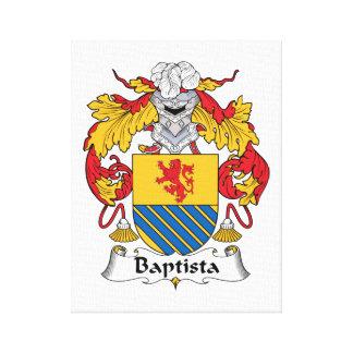 Escudo de la familia de Baptista Impresiones En Lona Estiradas