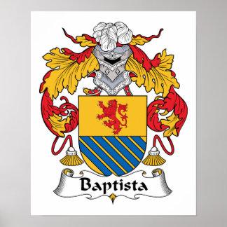 Escudo de la familia de Baptista Posters