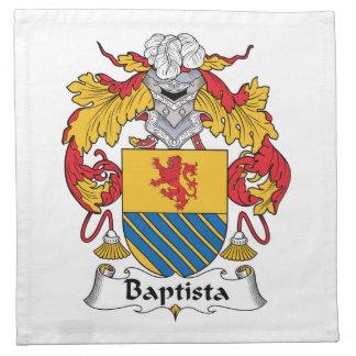 Escudo de la familia de Baptista Servilletas