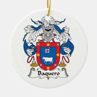 Escudo de la familia de Baquero Adorno Redondo De Cerámica