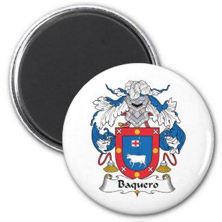 Escudo de la familia de Baquero Imán Redondo 5 Cm