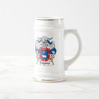 Escudo de la familia de Baquero Jarra De Cerveza