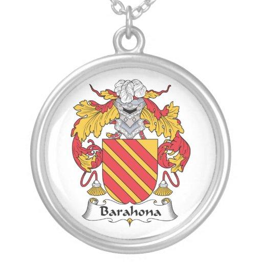 Escudo de la familia de Barahona Collar Personalizado
