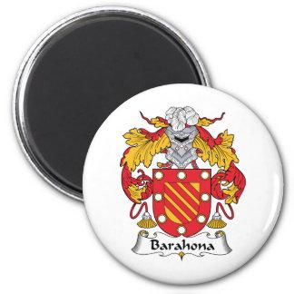 Escudo de la familia de Barahona Imán Redondo 5 Cm