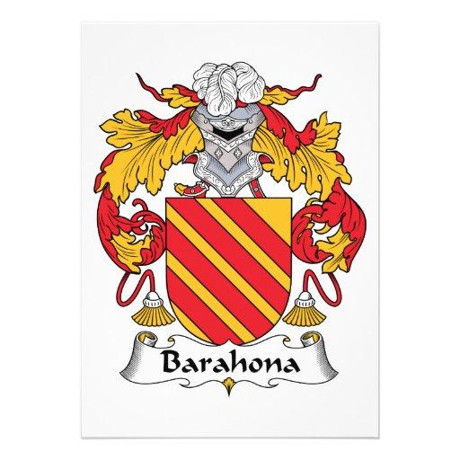 Escudo de la familia de Barahona Invitacion Personal