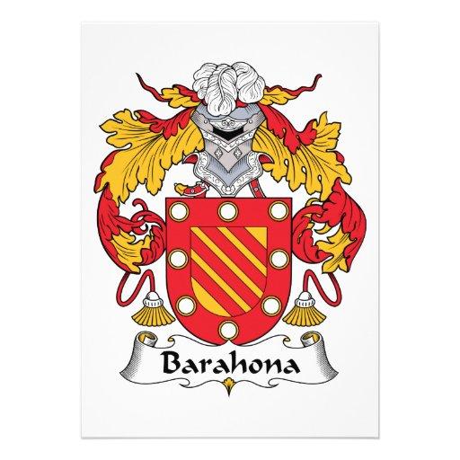 Escudo de la familia de Barahona Invitaciones Personalizada