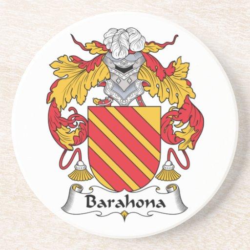 Escudo de la familia de Barahona Posavasos Para Bebidas