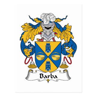 Escudo de la familia de Barba Postal