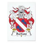 Escudo de la familia de Barbato Invitación 12,7 X 17,8 Cm