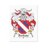 Escudo de la familia de Barbato Impresion De Lienzo
