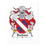Escudo de la familia de Barbato Tarjeta Postal
