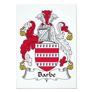 Escudo de la familia de Barbe Invitaciones Personales