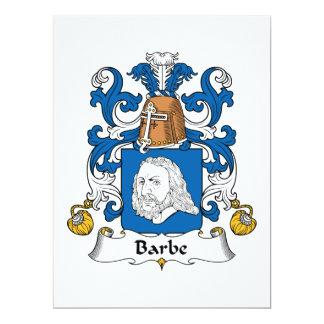 Escudo de la familia de Barbe Invitación