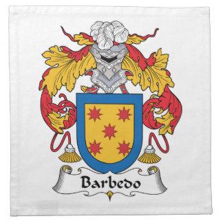 Escudo de la familia de Barbedo Servilleta De Papel