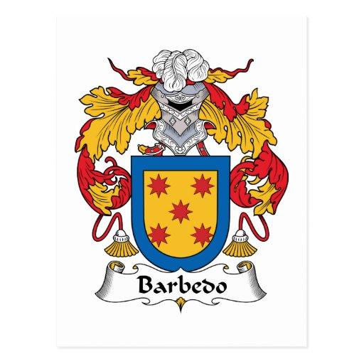 Escudo de la familia de Barbedo Tarjetas Postales