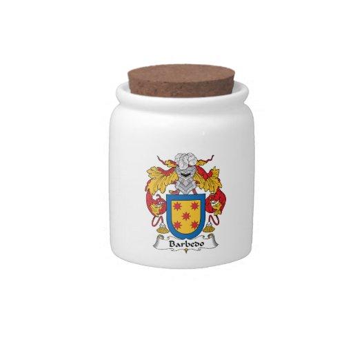 Escudo de la familia de Barbedo Tarro De Cerámica Para Dulces