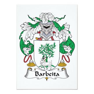 Escudo de la familia de Barbeita Invitación