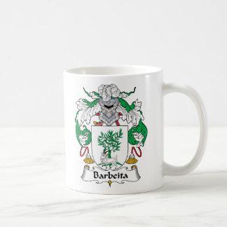 Escudo de la familia de Barbeita Tazas De Café