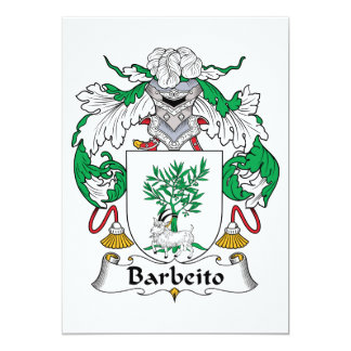 Escudo de la familia de Barbeito Comunicado Personalizado