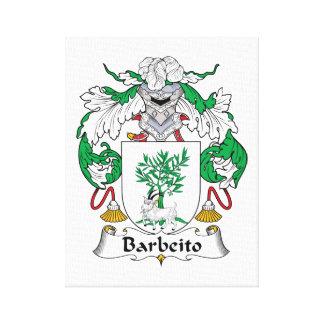 Escudo de la familia de Barbeito Impresión En Lienzo Estirada
