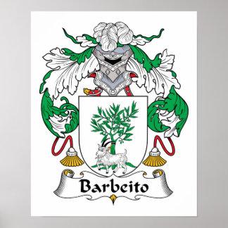 Escudo de la familia de Barbeito Impresiones