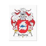 Escudo de la familia de Barbens Impresion En Lona